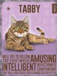 Metal Wall Kitchen Sign Vintage Retro Style Tabby Cat Lovers Gift
